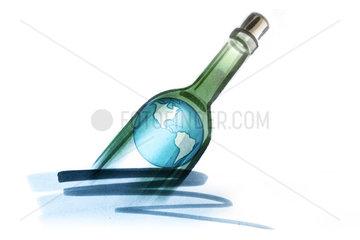 Globe in bottle