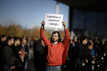 Occupy Wall Street Inspired Protests In Berlin
