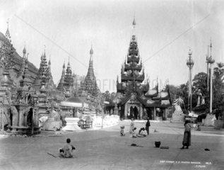 Rangoon Tempel ca. 1900