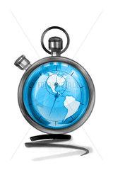 Globe in stopwatch