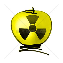 Radioactive apple