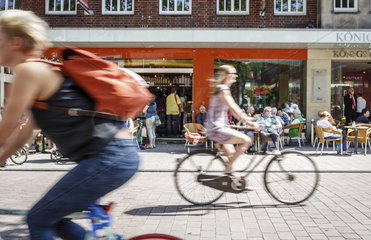 Fahrradfahrer in Muenster