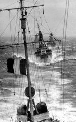 Franzoesische Kriegsschiffe