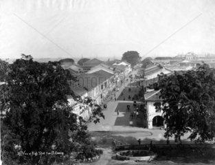 Migh Street in Singapur ca. 1900
