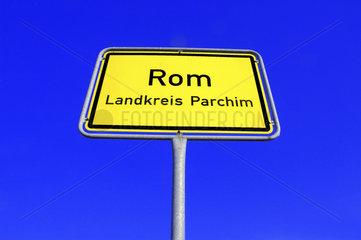 Ortsschild Rom