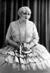 Frau Kleid Blumenstrauss