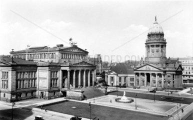 D-Berlin  1930  Gendarmenmarkt und Schauspielhaus