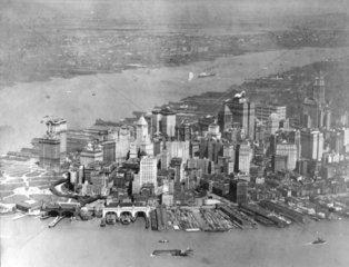 Manhatten ca. 1920 Luftbild