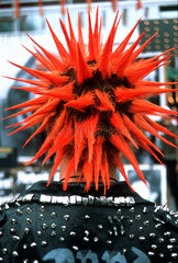 Punk rote Haare