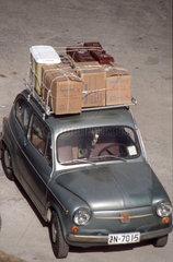 Fiat Cinquecento im Hafen von Athen