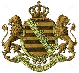 Wappen des Koenigreichs Sachsen  1908