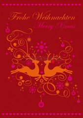 Bitte loeschen_Rentier rot-pink Weihnachtskarte