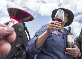 Rotweinverkostung