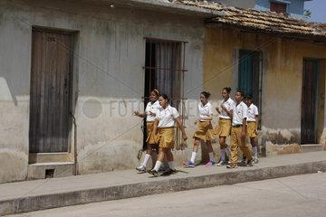Schulklasse in Trinidad