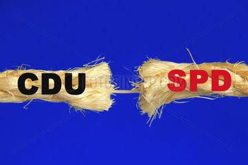 Strick der grossen Koalition zwischen CDU und SPD zerreisst