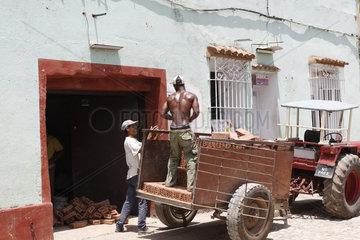 Bauarbeiter in Trinidad