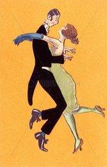 Paar Tanzen Charleston