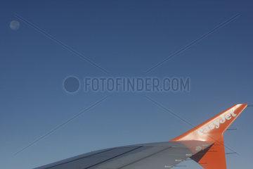 easy Jet und Vollmond