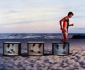 Videoinstallation jogging