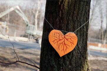 heart and tree