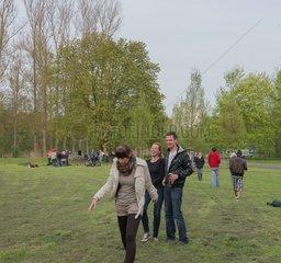 Menschen im Stadtpark