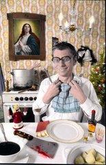 Moerder isst Weihnachtsessen
