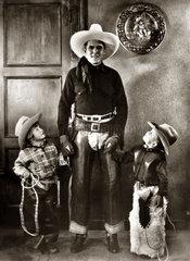 Ken Maynard + Kinder als Cowboys