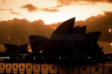 Oper von Sydney bei Sonnenuntergang