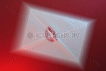 Liebesbrief mit Abdruck
