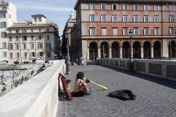 Strassenmusiker in Rom