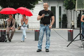 Kundgebung Recht auf Strasse am Hansaplatz gegen Rotlichtverbot  Mehmet Simsit