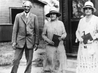 Henry Ford with his wife Clara  c 1920.