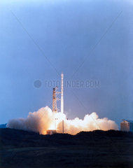 Launch of the British Ariel 6 satellite  2nd June 1979.