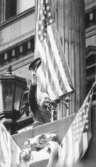 Ike waves to the crowd  London  June 1945.
