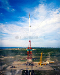 Launch of Virgil 'Gus' Grissom's Redstone rocket (MR4)  1961.