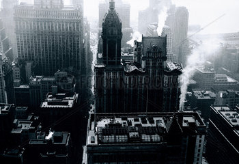 Aerial view of New York  USA  c 1920s.