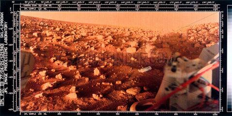 Martian landscape taken by a Viking Lander  1976.