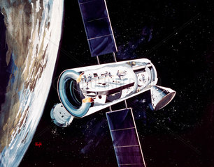 Artist's impression of a Space Station  1960s.