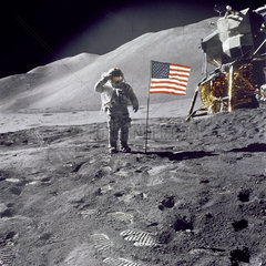 American flag on the Moon  1971.