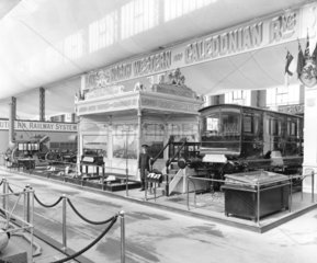 LNWR display at the Anglo-American Exhibition  London  1915.