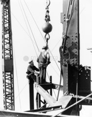 Constructing the Empire State Building  New York  c 1931.
