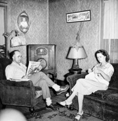 Miner and his wife relaxing at home  West Vigirnia  USA  September 1938.