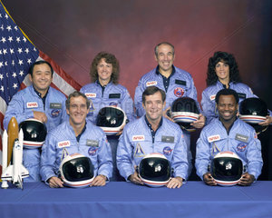 Crew of the Shuttle Challenger  USA  c 1986.