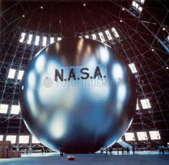 Echo satellite during inflation tests  1960.