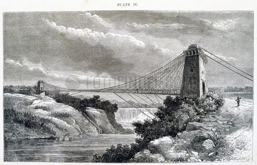 Falls View Suspension Bridge  Niagara  North America  1877.