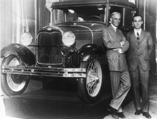 Henry Ford  American car manufacturer  with his son Edsel  c 1920.
