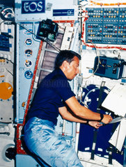 Experiment aboard the Space Shuttle  1984.
