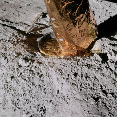 Apollo 14 footpad on the Moon  February 1971.
