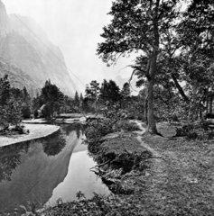 Valley of the Yosemite  California  c 1860s.