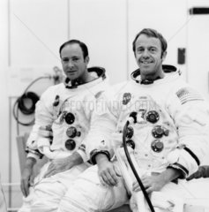 Astronauts Ed Mitchell and Al Shepard  17 September 1970.